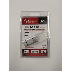 Clé USB OTG Mini Mobile 32GB Adapteur 3 en 1