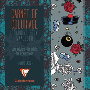 Carnet de Coloriage pour adultes Tatoo ClaireFontaine