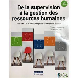 De la supervision à la gestion des ressources humaines 5ièm